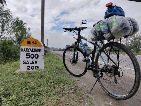 travelling from Mumbai to Kanyakumari on cycle
